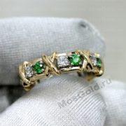 Золотое кольцо Tiffany Sixteen stone