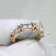 Кольцо Тиффани из золота
