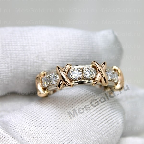 ювелирная мастерская: Золотое кольцо Tiffany Sixteen stone