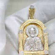 Кулон Николай чудотворец спас нерукотворный