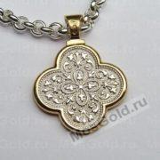 Нательная иконка «Спаситель» из золота