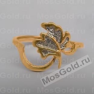 Золотое кольцо листик