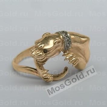 Золотое кольцо с пантерой