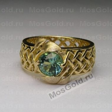 Плетёное кольцо с листиками