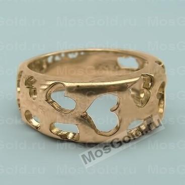 кольцо с вырезанным сердцем