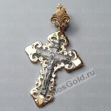 Крестик из красного золота