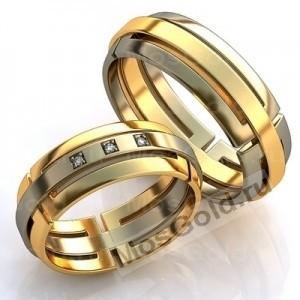 Кольца из двухцветного золота