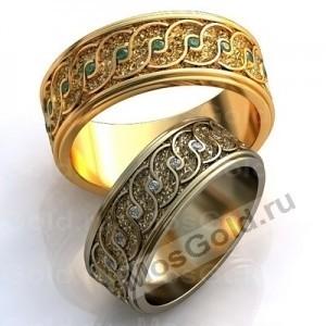 Обручальные кольца с текстурой