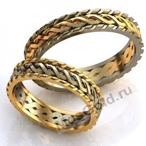 Обручальные кольца с косичками