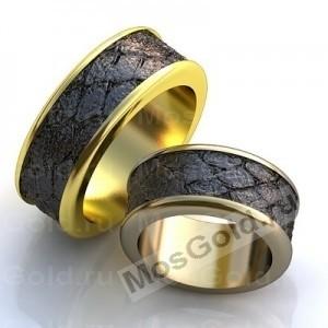 Обручальные кольца с чёрным родием