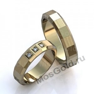 Обручальные кольца белым золотом