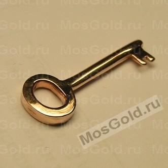 Золотой кулон ключик