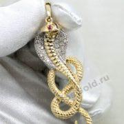 Золотая подвеска кобра