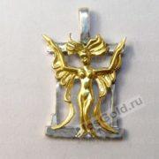 Золотой кулон Дева