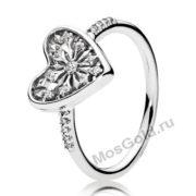 Золотое кольцо сердце