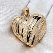 Кулон золотое сердце